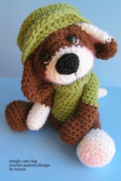 Dog Simply Cute Crochet Pattern Crafts Pinterest Crochet