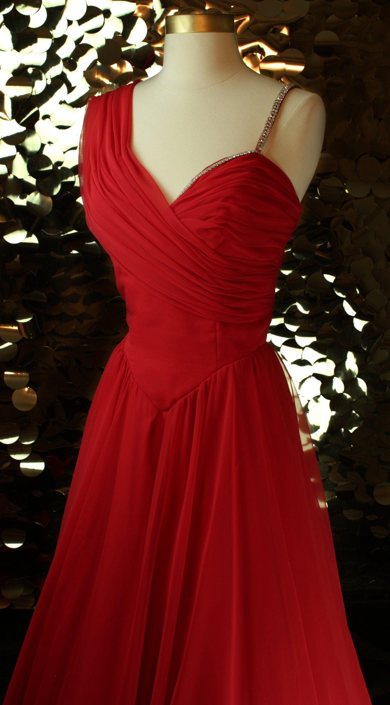 Elegant 80s 90s Red Vintage Alyce Designs Ballgown Vtg Etsy Ball Gowns Vintage Red Dress Dresses [ 3000 x 1660 Pixel ]