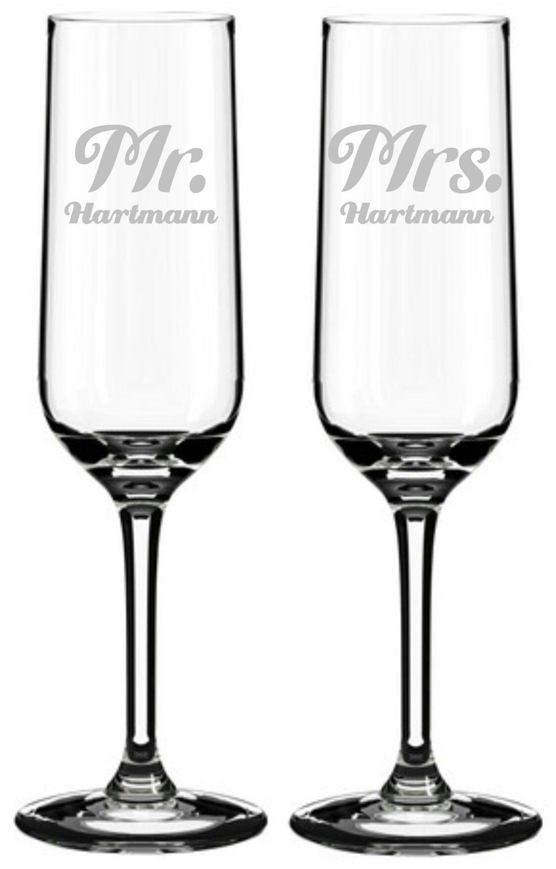 2 Sektgläser Gravur Mr. & Mrs. #lasergravur #engraved #hochzeit ...
