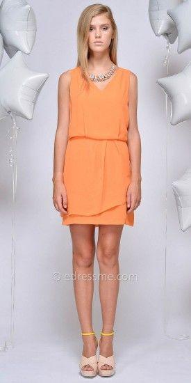 Helen V Neckline Day Dress by Greylin #edressme