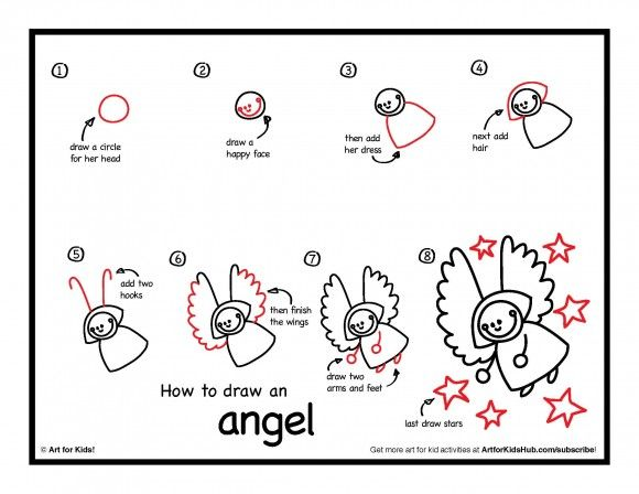How To Draw An Angel Art For Kids Hub Doodling Fantasy