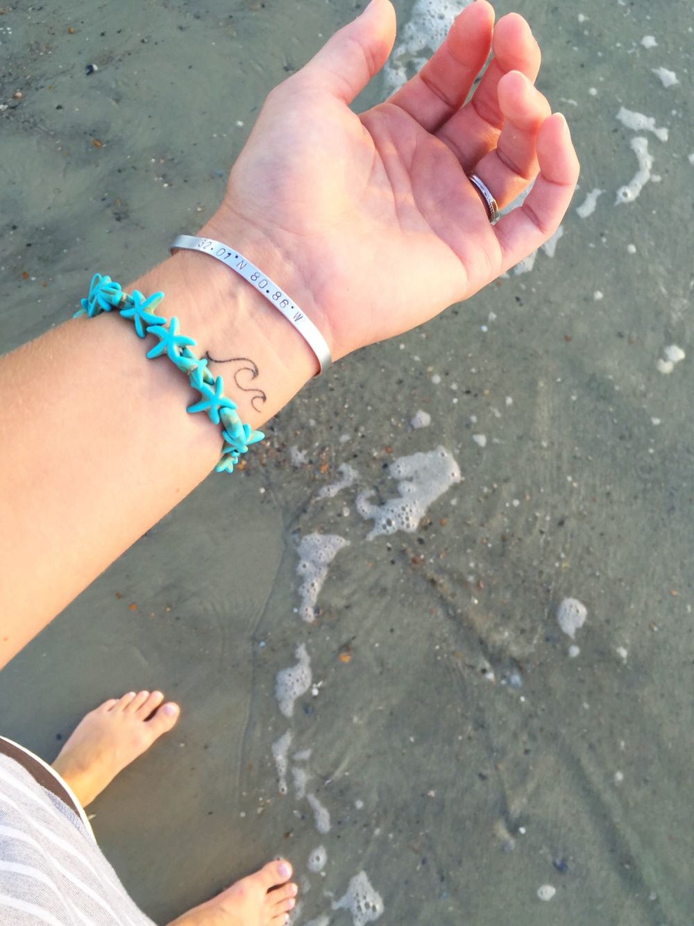 Wave wrist tattoo (With images) Wave tattoo wrist, Wrist