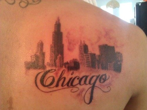 Jhony Wallpaper Chicago Tattoo Skyline Tattoo Chicago Skyline Tattoo