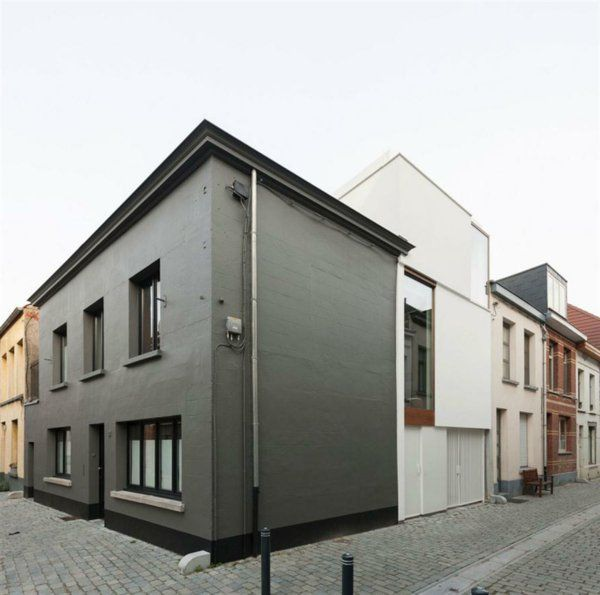 schlichte graue fassade haus architektur exteriors. Black Bedroom Furniture Sets. Home Design Ideas