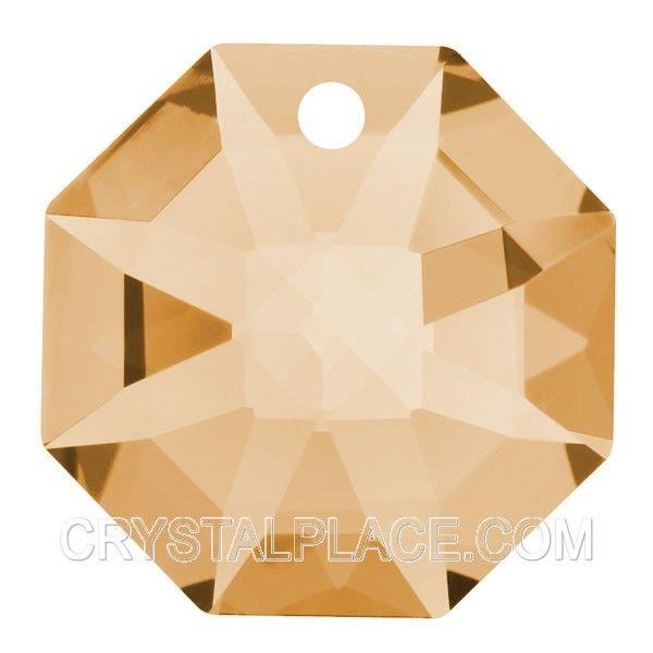 Swarovski Crystal Light Peach Octagon, Chandelier Replacement Glass Beads
