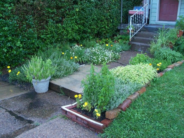 Herb Garden Leading Up To The Front Porch Garden Yard Ideas