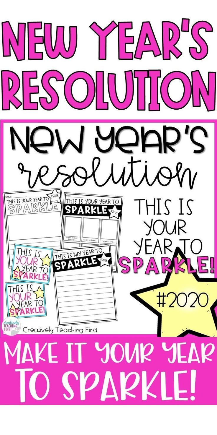 New Years Resolution 2020 This is Your Year to Sparkle
