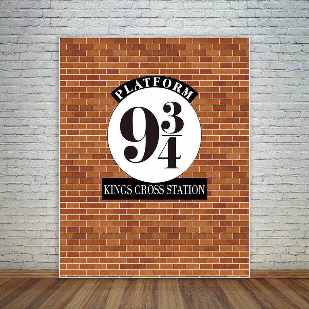 HARRY POTTER HOGWARTS EXPRESS PERSONALISED BIRTHDAY PARTY BANNER BACKDROP