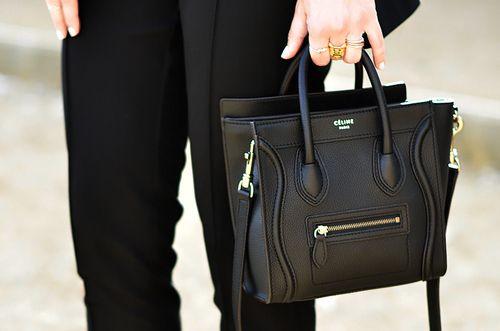 mini black  bag    Nano Luggage by  Celine  f5afc2c434110
