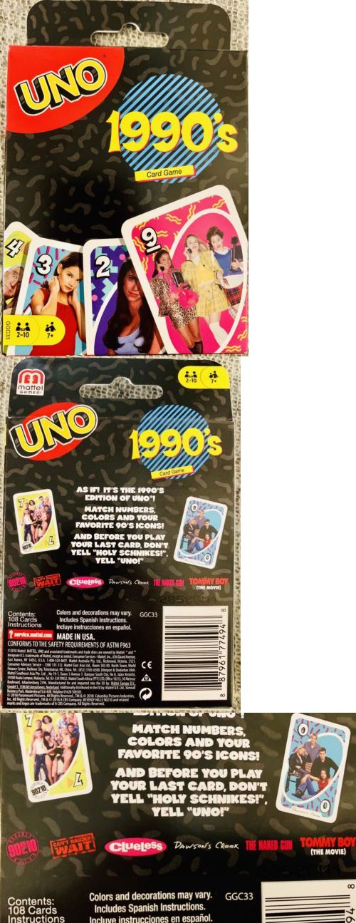 Card Games And Poker 180350 Uno Card Game 1990 S Themed Uno 90 S Pop Culture Nostalgia Buy It Now Only 15 15 On Uno Card Game Card Games Game Sales