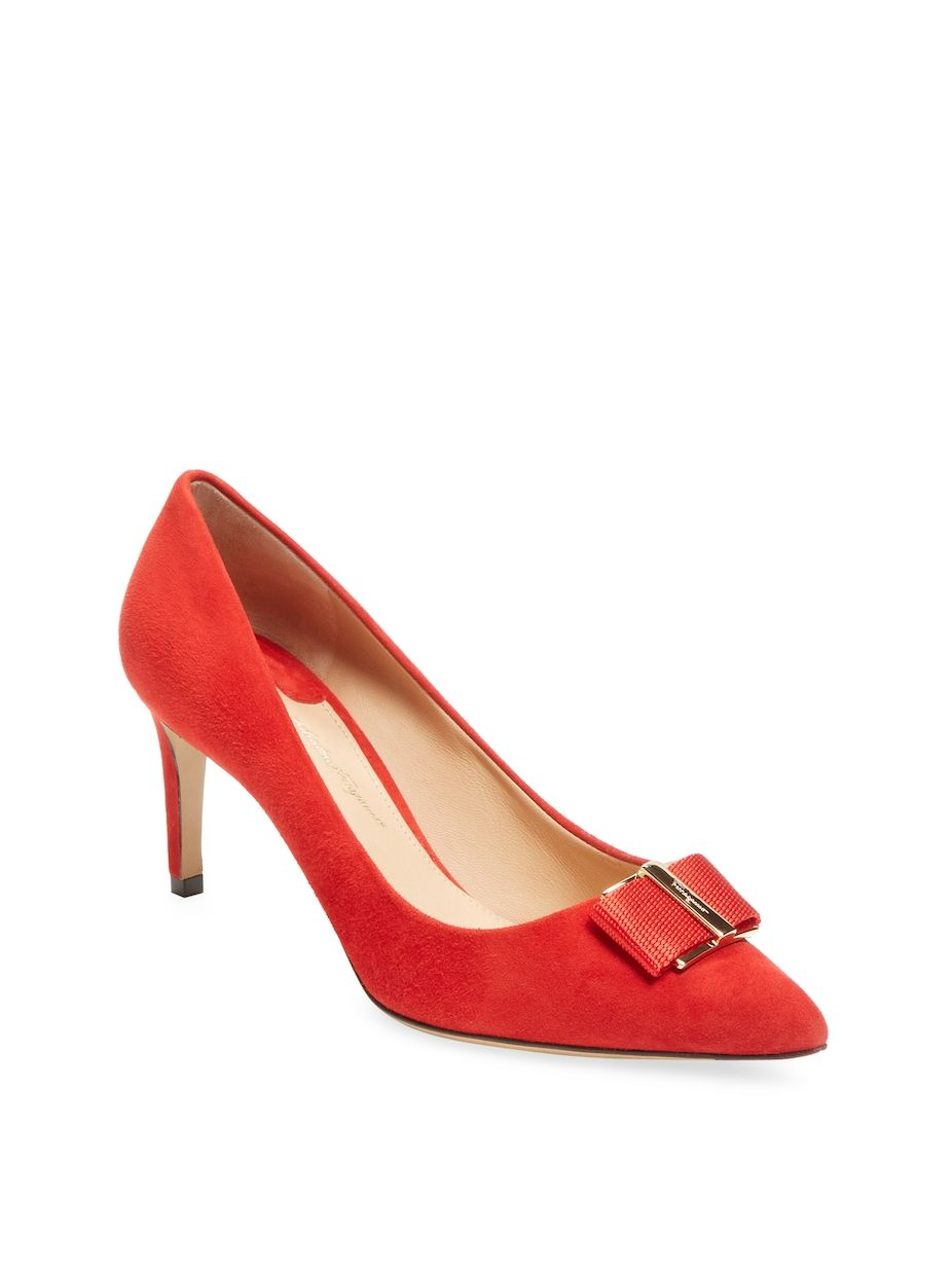 0894477892ce4 Salvatore Ferragamo Suede Bow High Heel Pump, #SalvatoreFerragamo, #Bow, # Suede