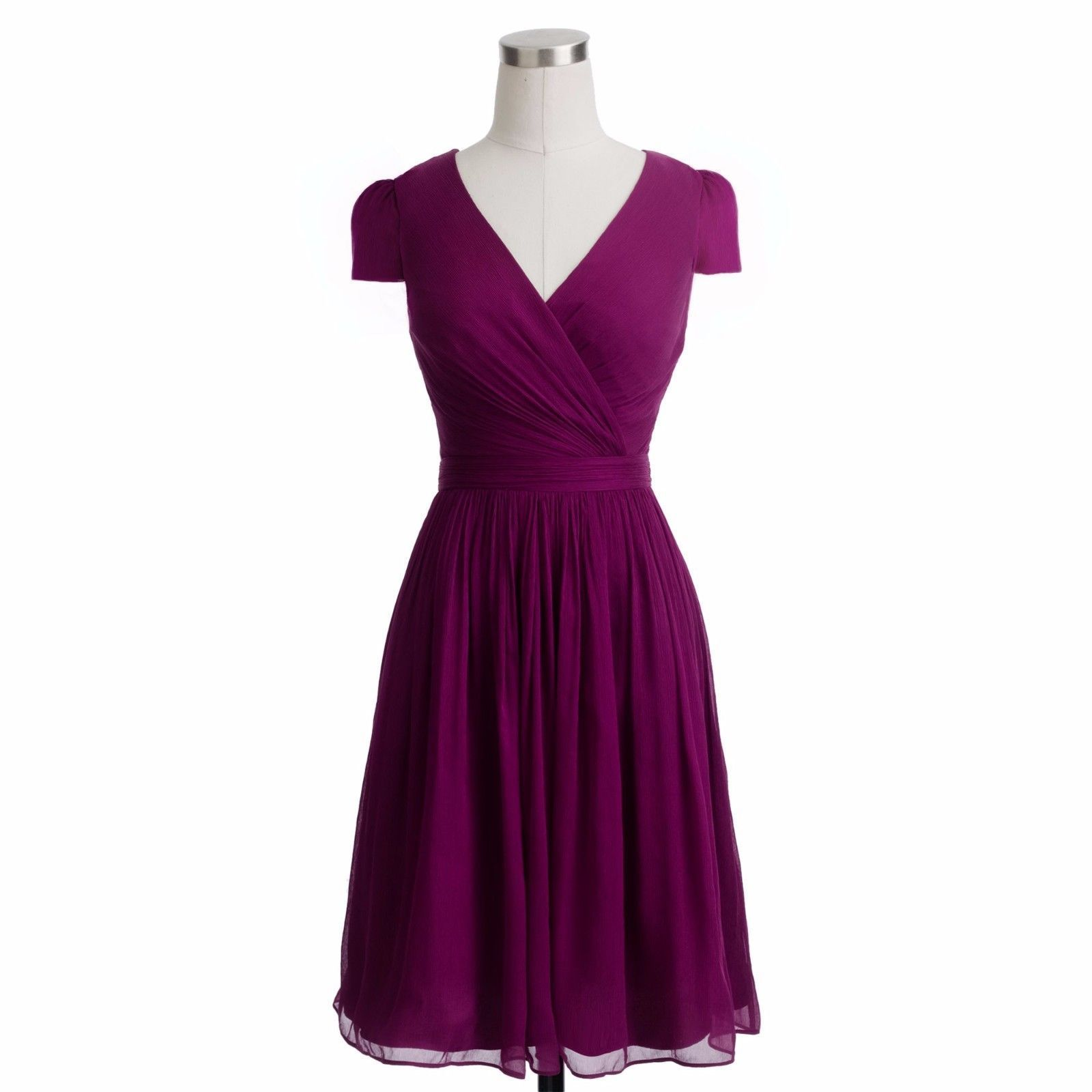 NEW $265 Size 10 J.Crew MIRABELLE Silk Chiffon Cocktail Dress in ...