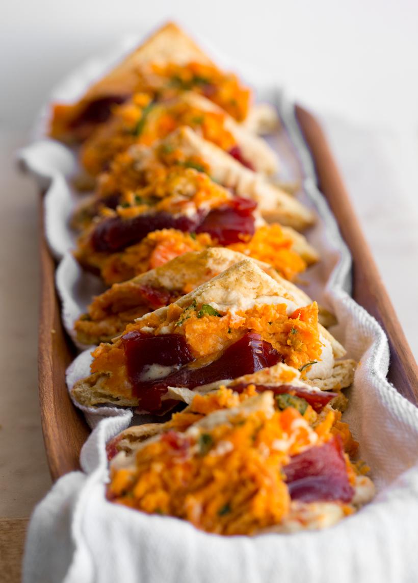 Sweet 'n Sassy Sweet Potato Pockets Recipe Vegan