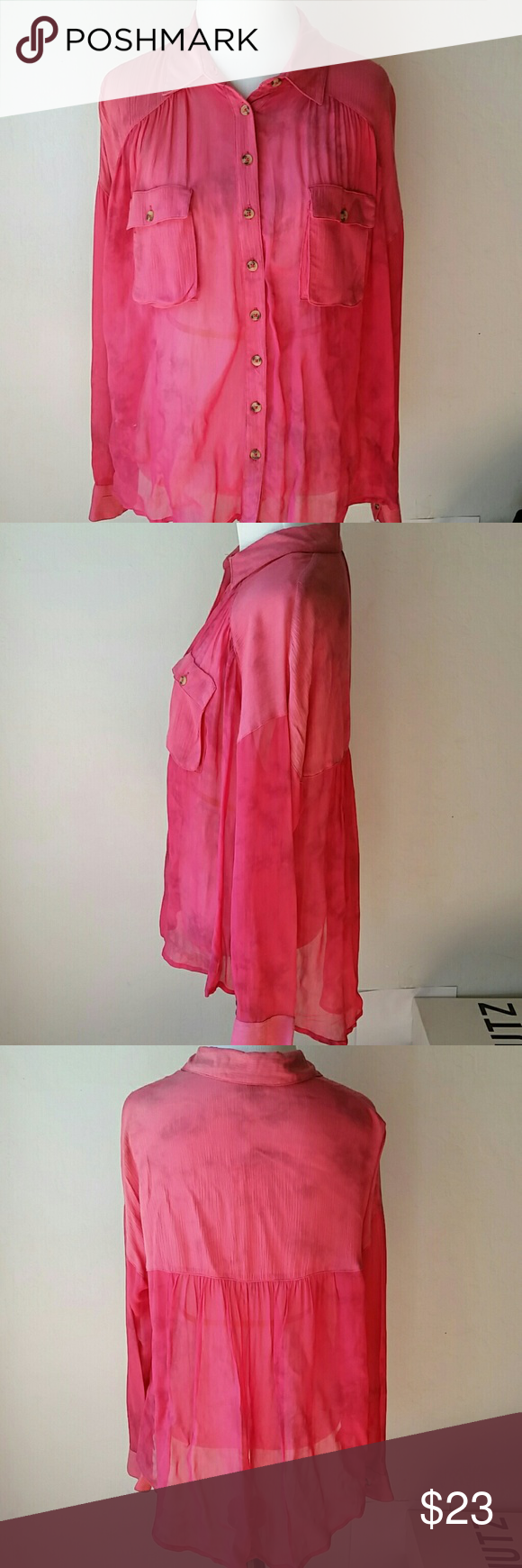 NWT BeautifulFree People  shirt Beautiful color,runs big,label.say xs,but  fit like size 4_6 in j crew size Free People Tops Blouses