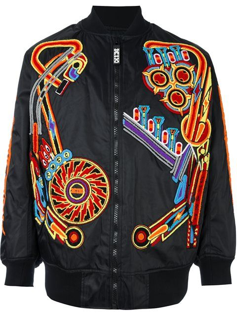 KTZ Pinball Patched Bomber Jacket. #ktz #cloth #jacket