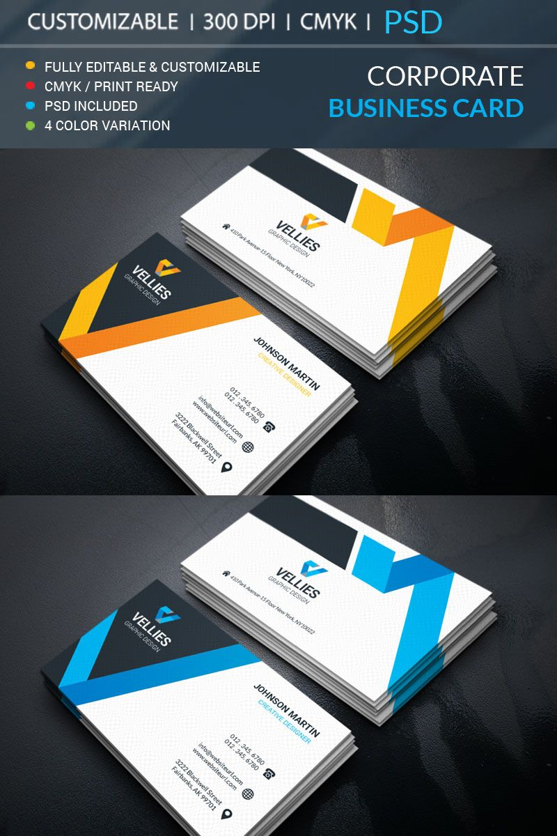 Martin Business Card Corporate Identity Template 69480 With