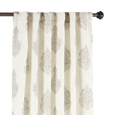 Gray And White Paisley Curtain Paisley Curtains Grey Curtains Living Room Decor Curtains