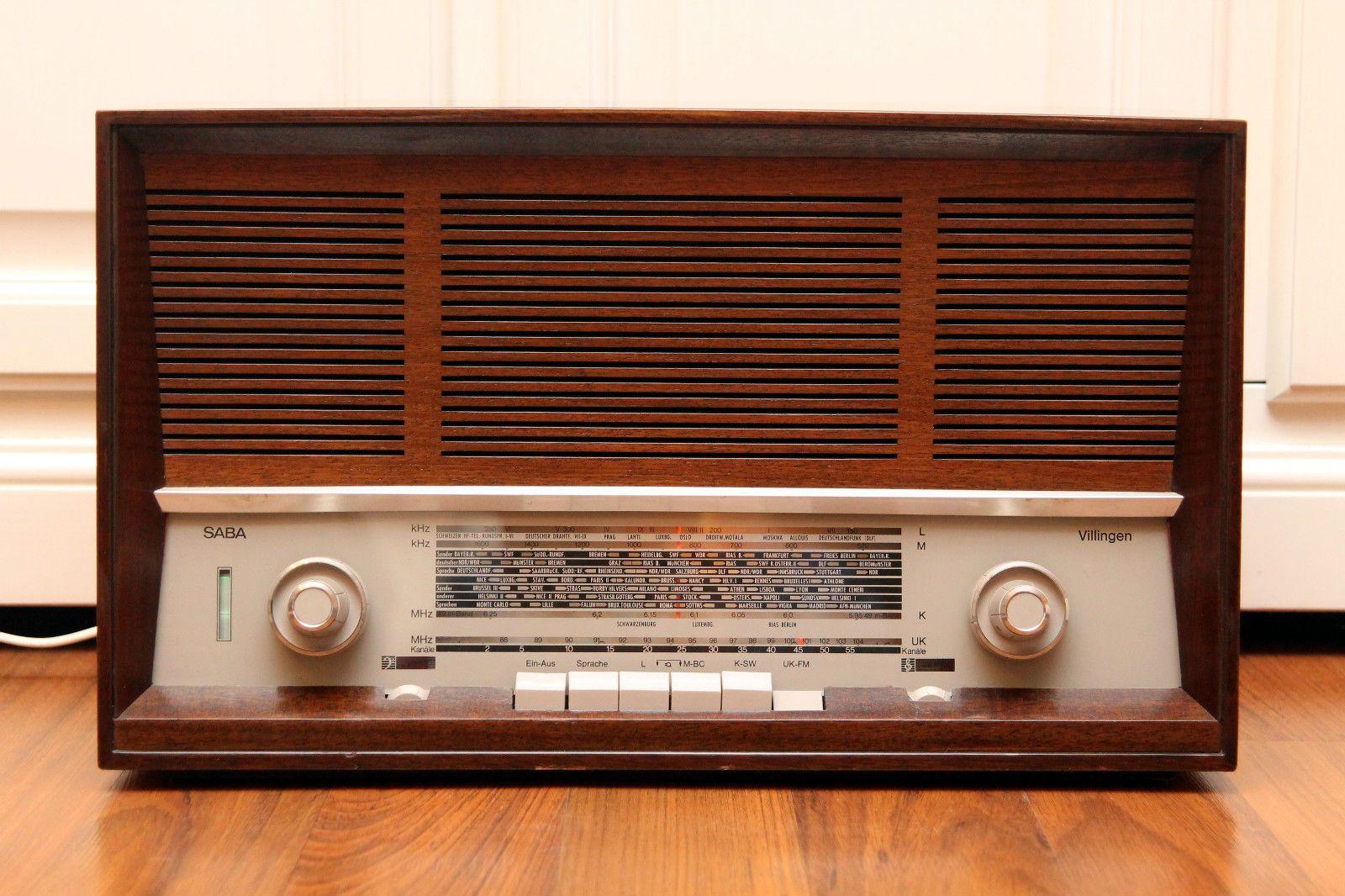 Restored Rarity Saba Villingen 16 Vintage Tube Radio Top Germany Amplifier Tun Radio Vintage Radio Vintage