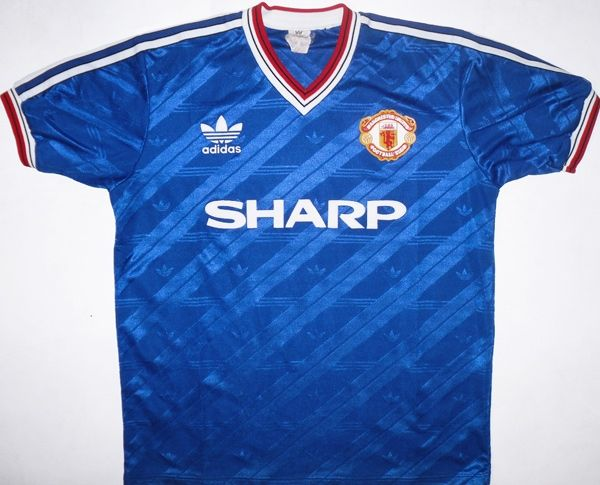 8ad8138a8 86-88 Man U 3rd Shirt Vintage Football Shirts, Classic Football Shirts,  Football