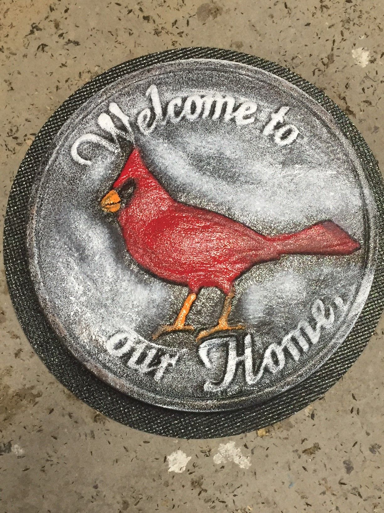 Cardinal red bird stepping stone mold in 2020 stone