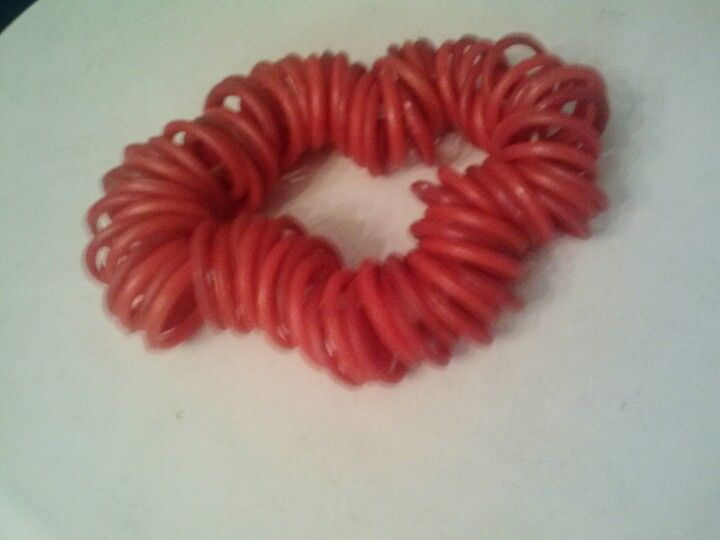 Recycled plastic ring braclet