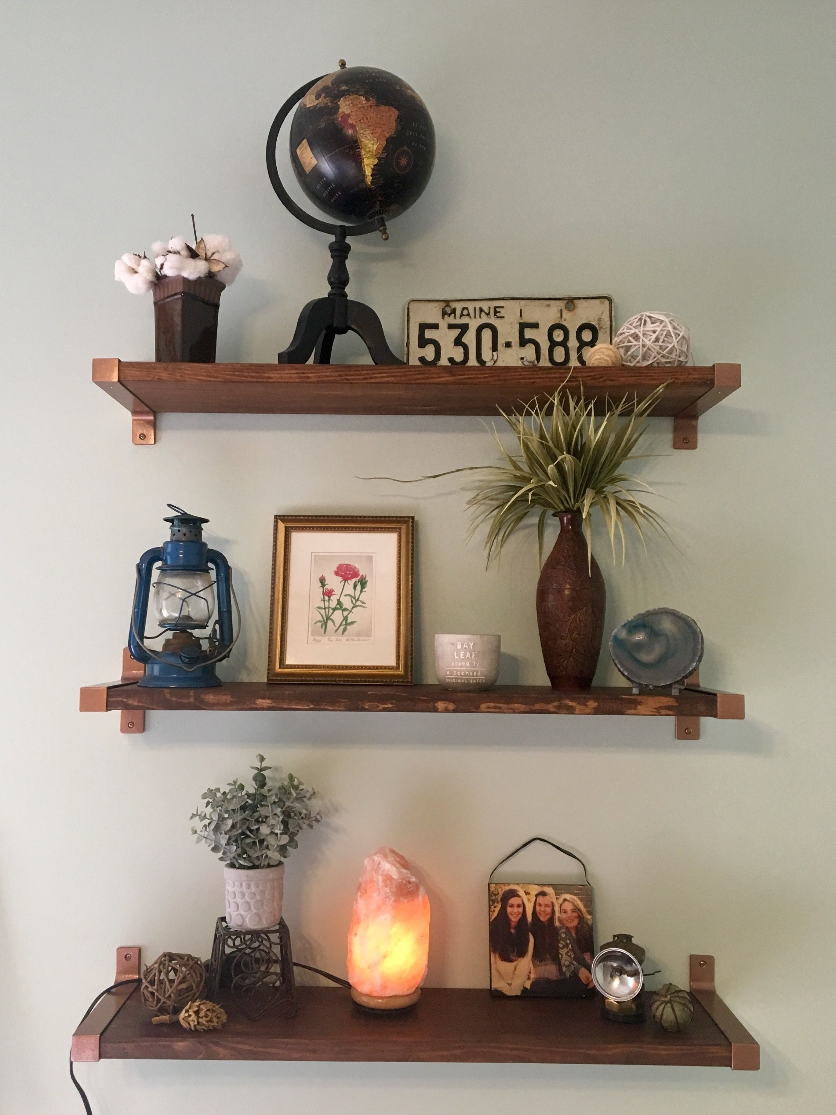 Best Floating Shelves Copper Painted Ikea Ekby Brackets And 400 x 300