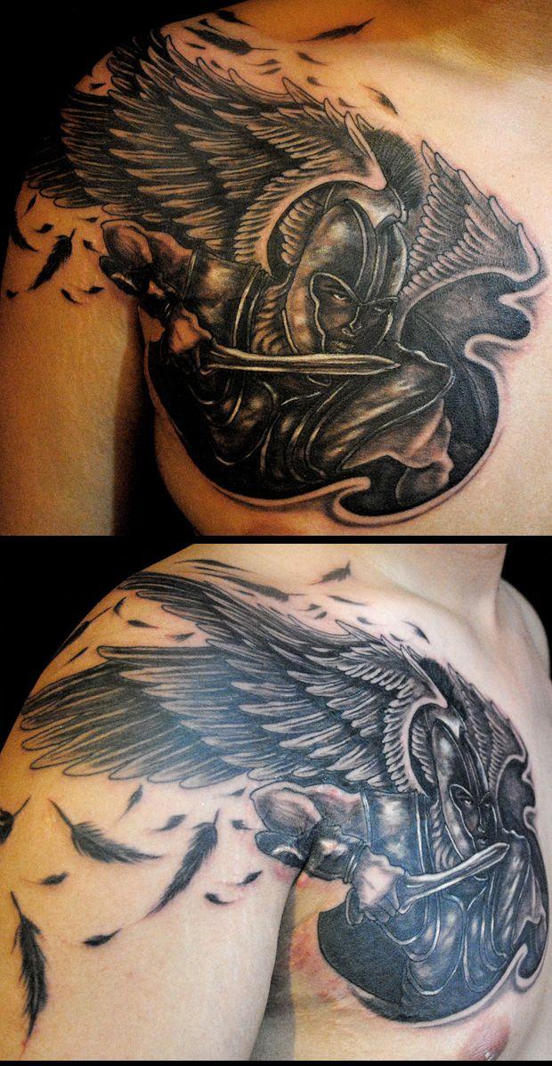 Female Warrior Angel Tattoos 2011 Angel Tattoo Warrior Tattoos Angel Warrior