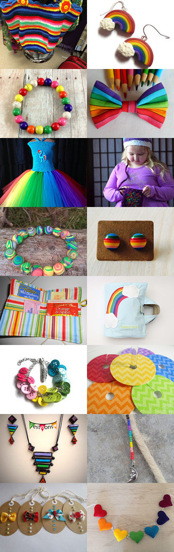 A Rainbow Above You by Julie and Kate on Etsy--Pinned+with+TreasuryPin.com