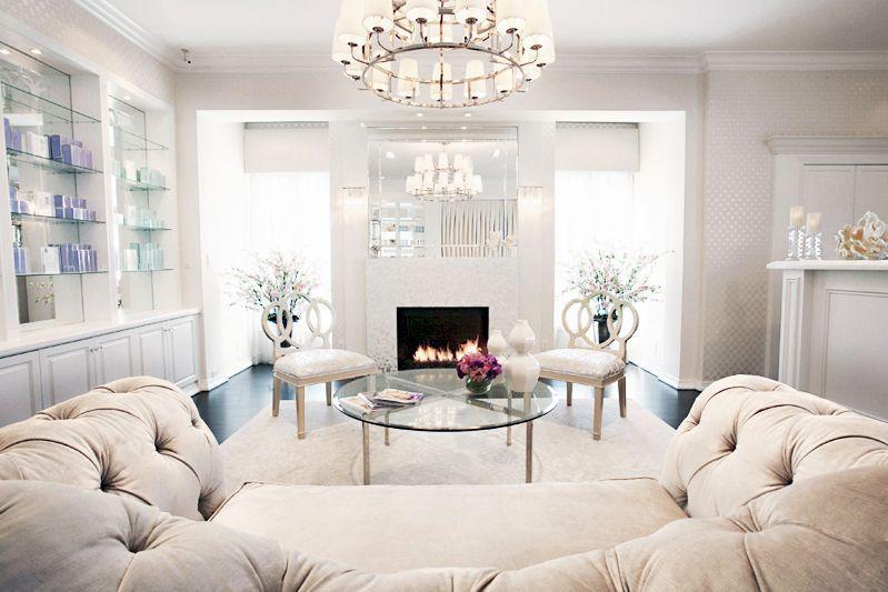 Traditional Living Room with Pendant Light, Hardwood floors, interior wallpaper…