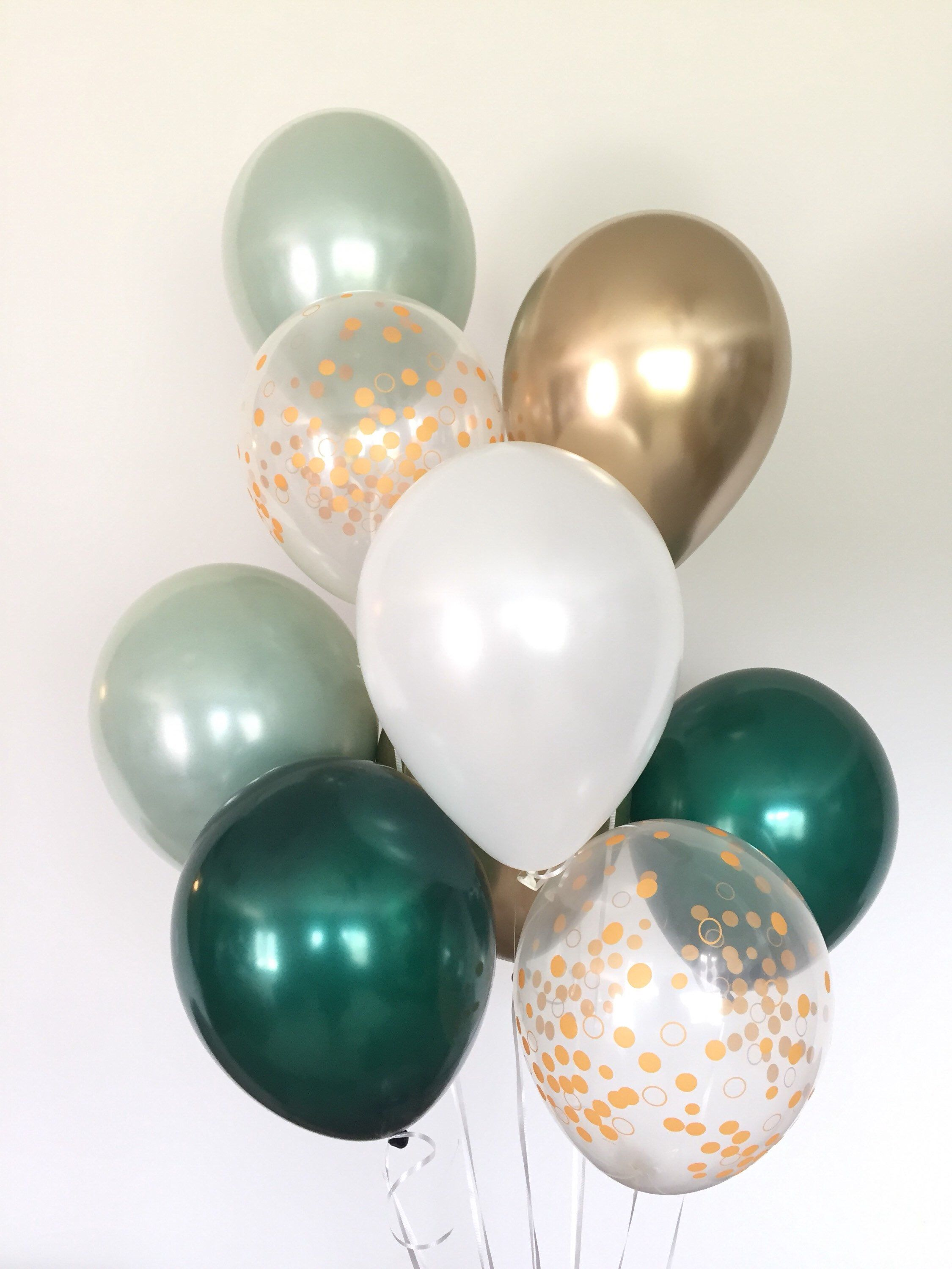 Green and White Balloons | Light Green Wedding Decor | Green and ...
