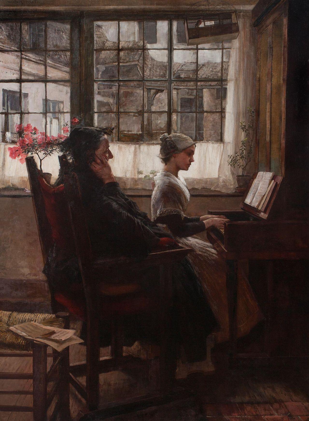 Catonhottinroof Walter Firle 1859 1929 An Old Song Vintage Music Art Art Music Musical Art