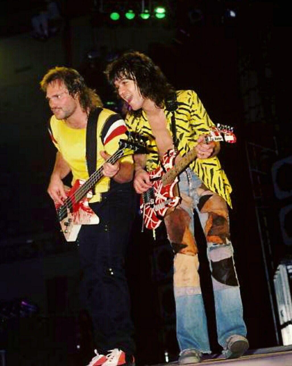 Eddie Van Halen And Michael Anthony 1984 Eddie Van Halen Michael Anthony Van Halen Van Halen