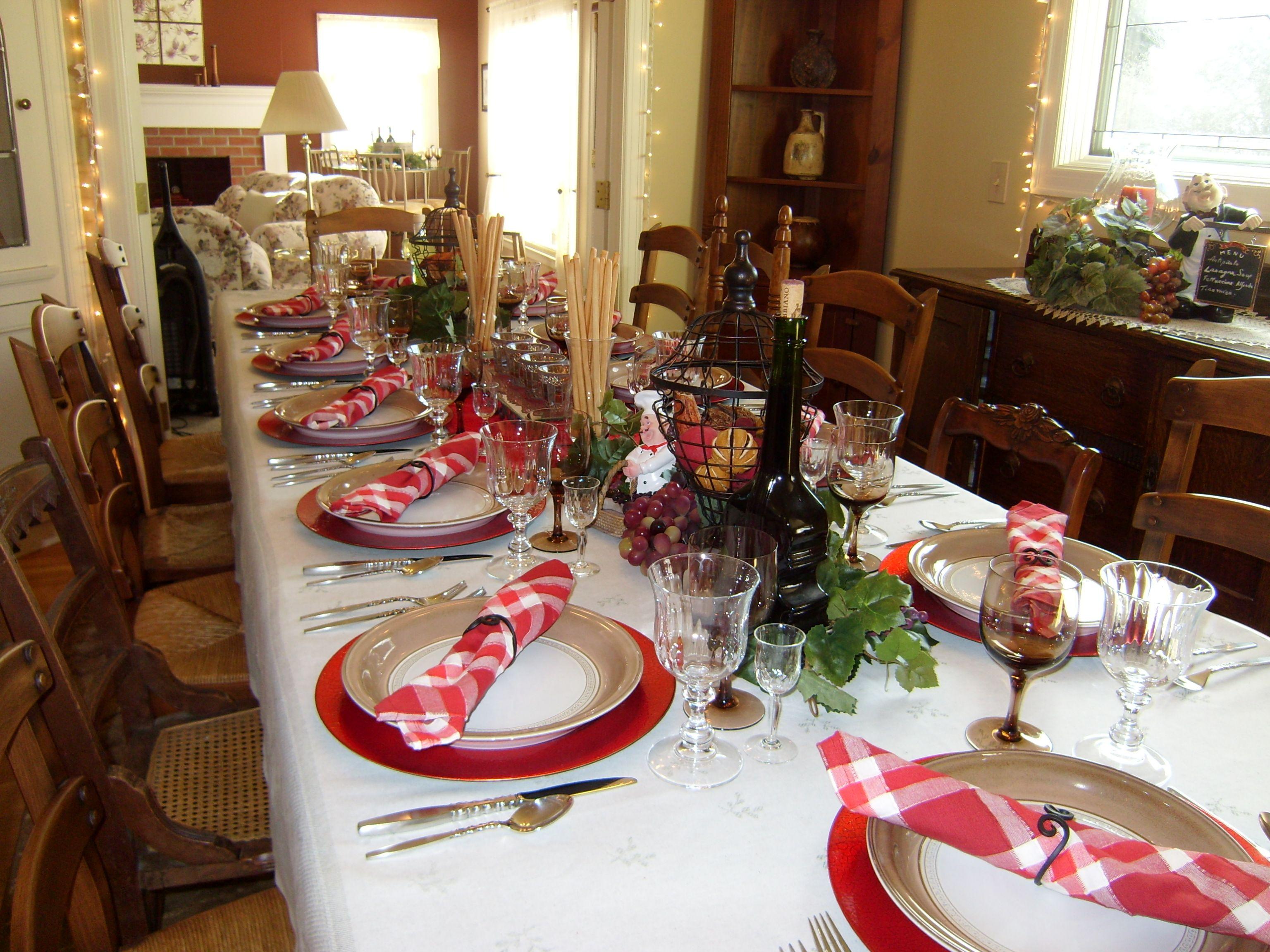 Italian dinner party birthday ideas pinterest for Italian party