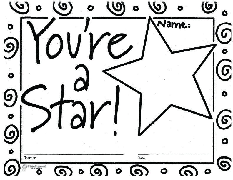 Youre A Star Certificate 1 Country Fair Classroom Certificate
