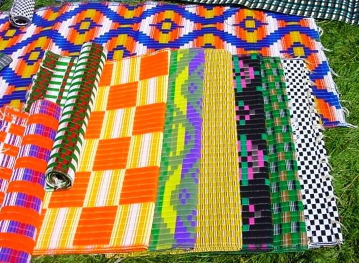 African Plastic Woven Mats From Malika In Senegal | The Global Grocery. Recycled  RugsAfrican PatternsOutdoor ...
