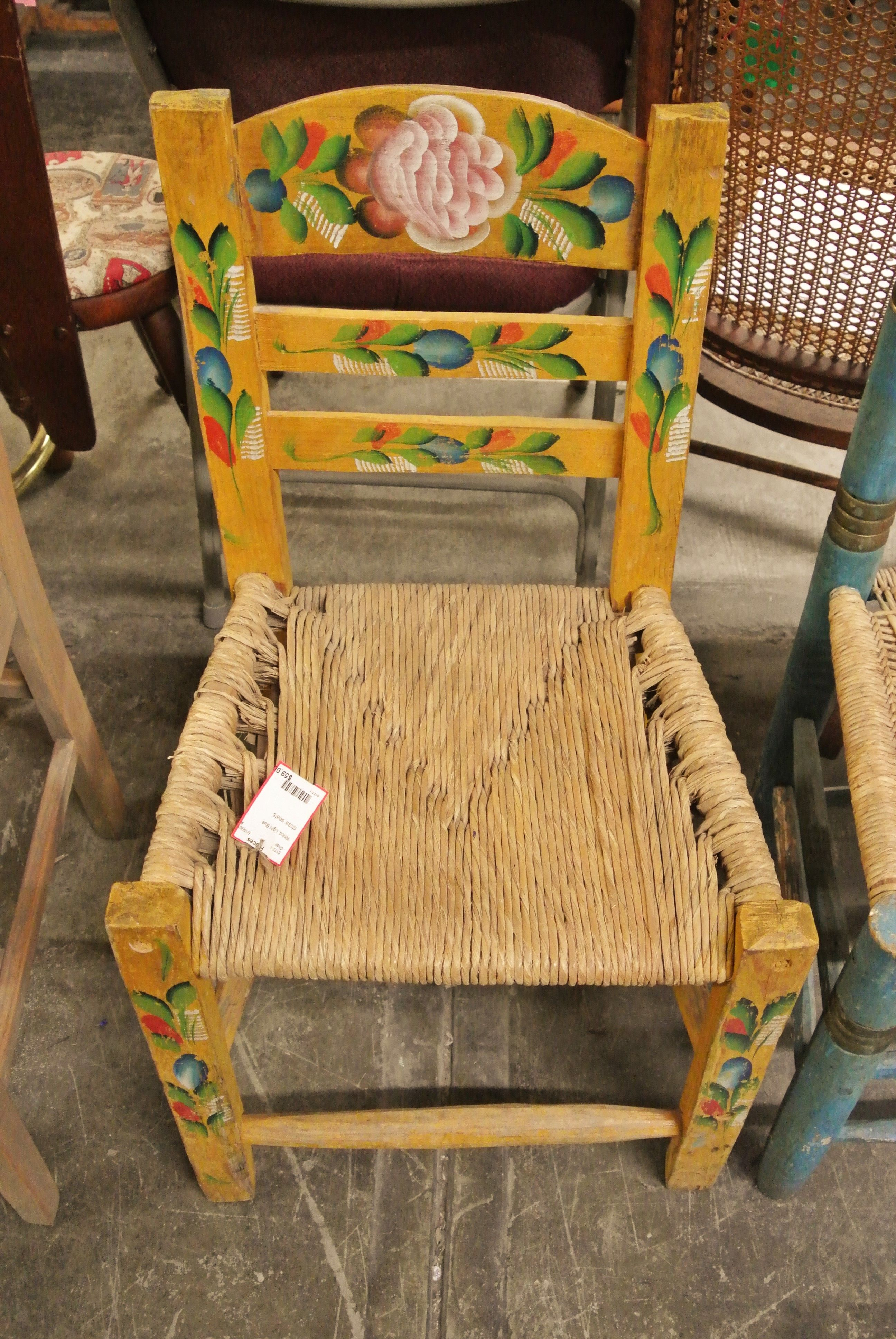 Pieces taos antique yellow chair pieces