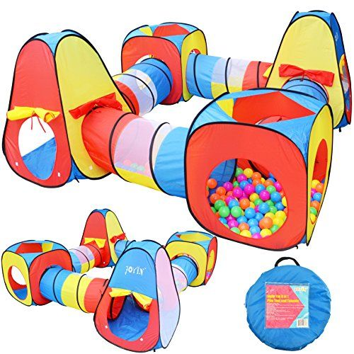 Joyin Toy 8 In 1 Pop Up Play Tent Tunnel Including 4 Kids