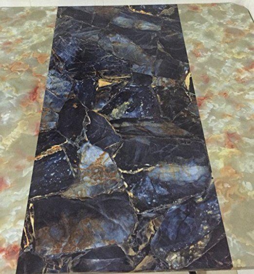 Majsterkowanie Brown Granite Look Marble Gloss Film Vinyl Self Adhesive Counter Top Peel and St
