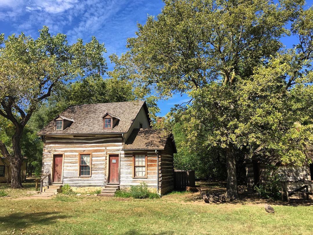 1869 Munger cabin at @wichitacowtown @visitwichita @travelks #travel #TBIN