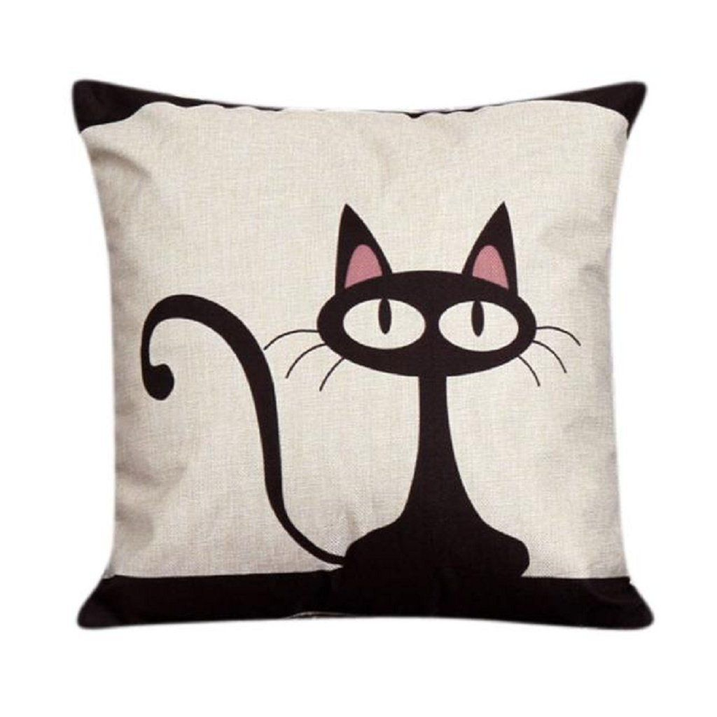 OverDose Home Decoration Cute Cat Pillow Case Cushion CoverNo
