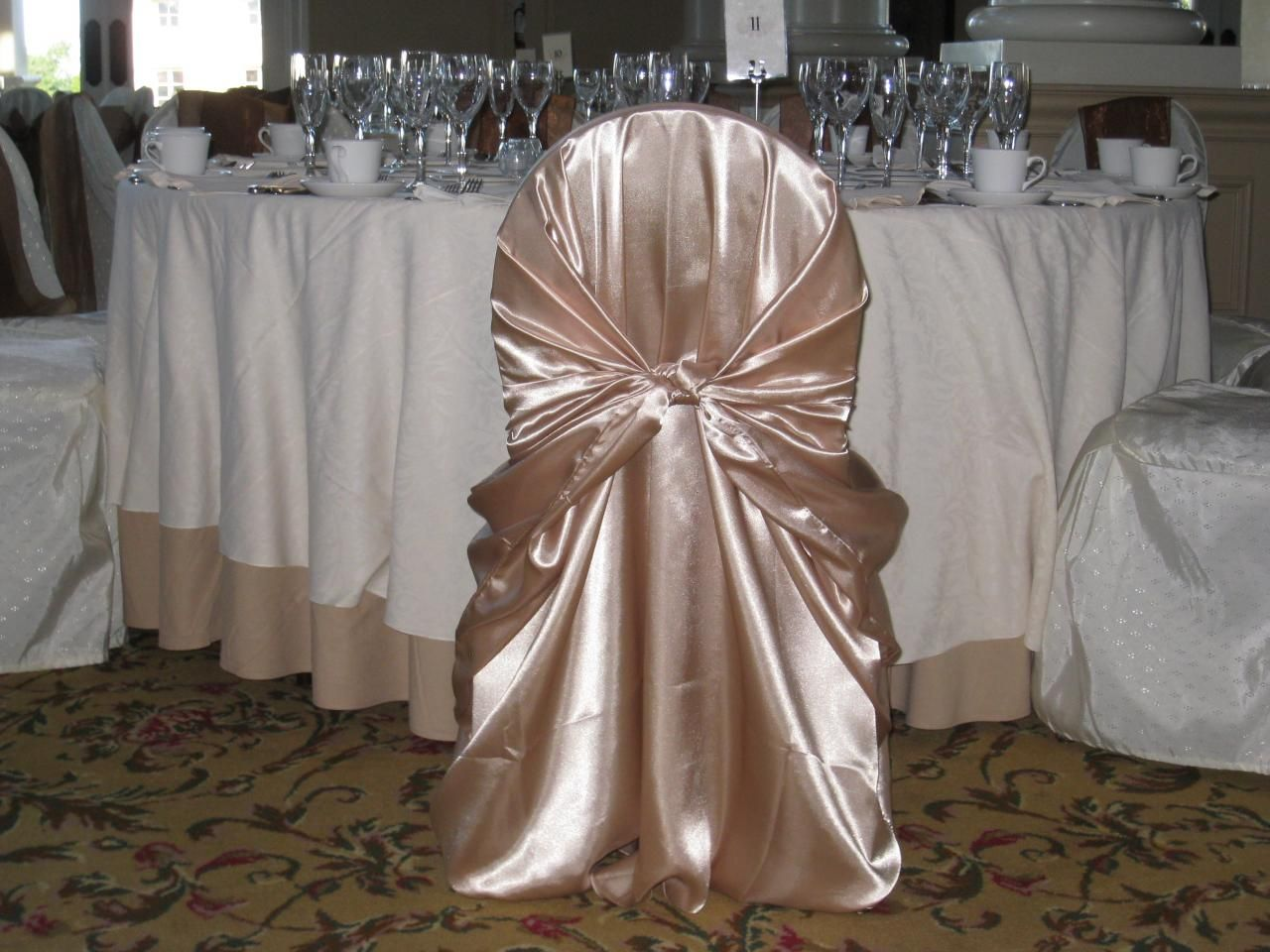 Champagne Chair Covers Wedding Bell Talk Champagne Chaircovers Are So Beautiful