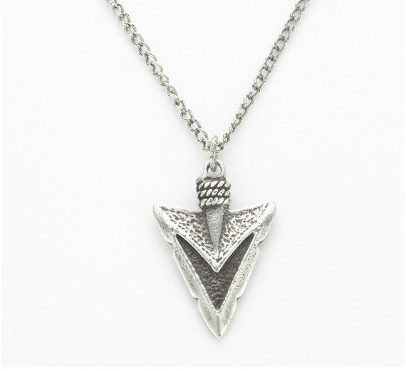 Sterling silver arrowhead necklace silver by alwayzwithlove mens sterling silver arrowhead necklace silver by alwayzwithlove mozeypictures Gallery