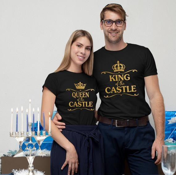 King Queen of the castle, Couple tshirt, Couple outfits, Matching couple tshirt, Couple anniversary gift, Valentine tshirt, Valentine gift