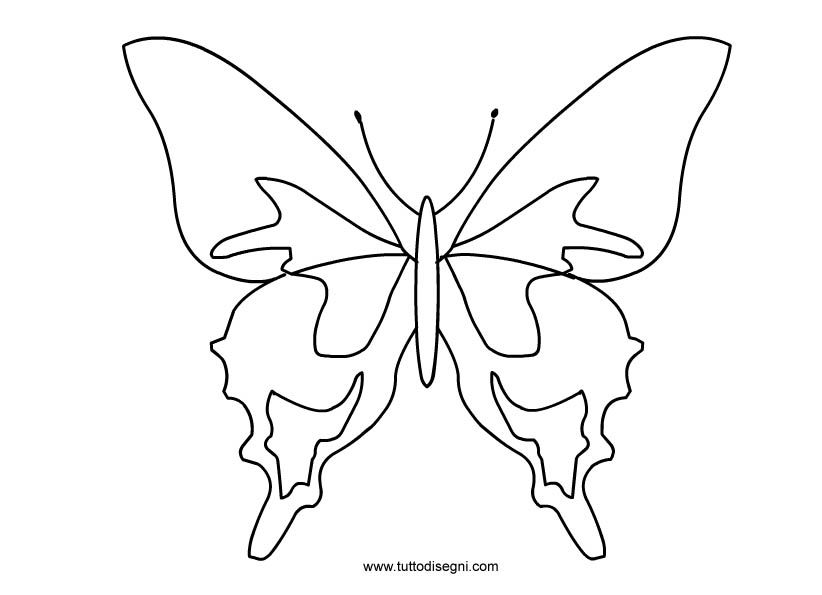 Farfalla Da Colorare Da Colorare Disegni Primavera Disegni