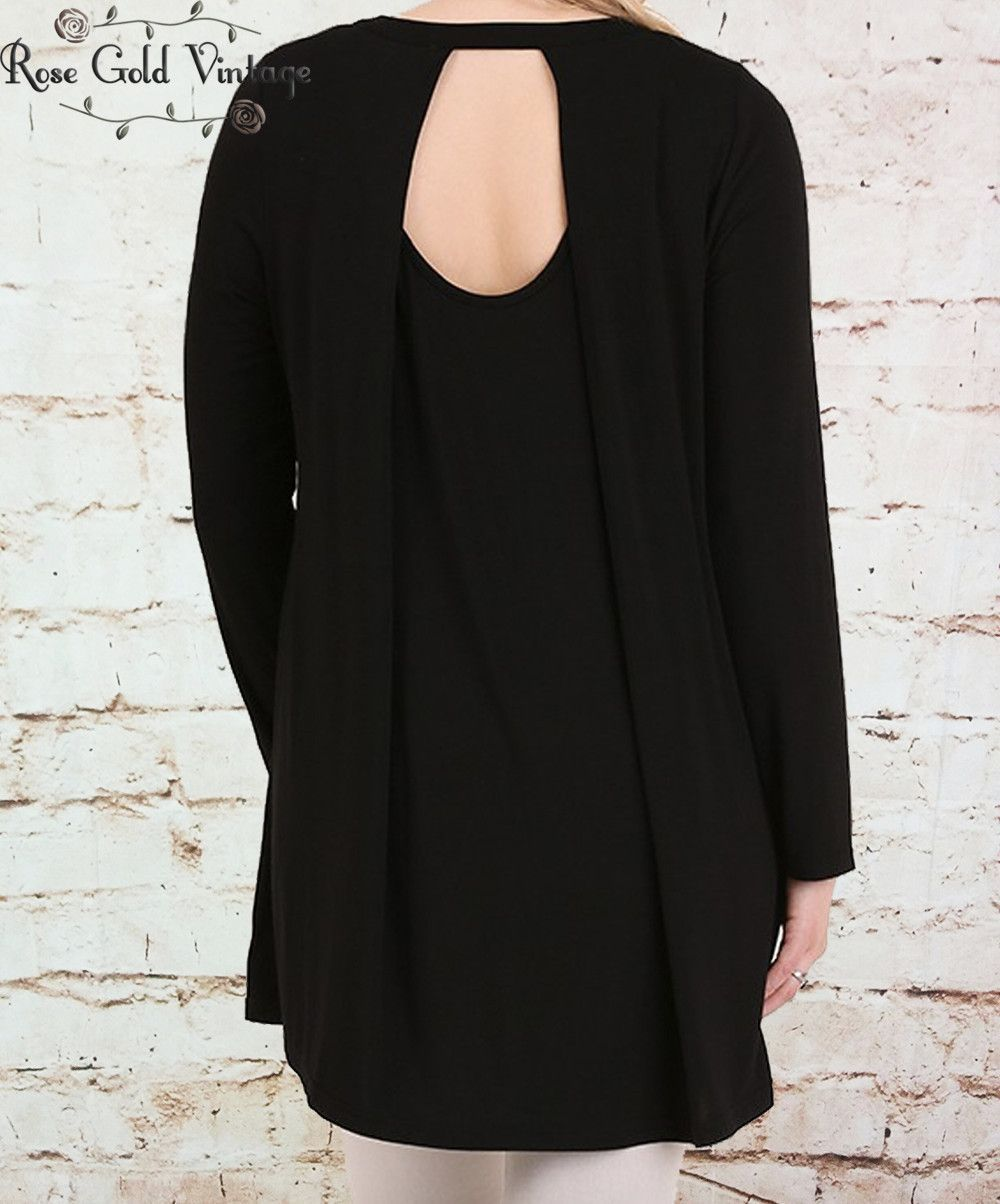 Cut out tunic black tunics silhouette and scarves