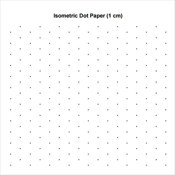 Nice Isometric Dot Paper Template