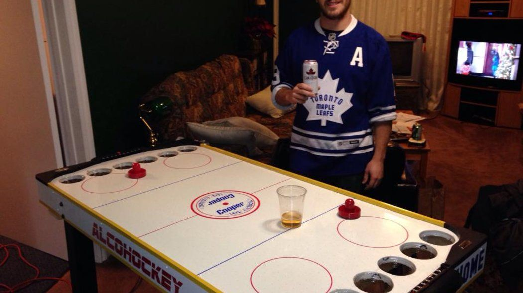How To Make Your Very Own Alcohockey Table Beer Pong