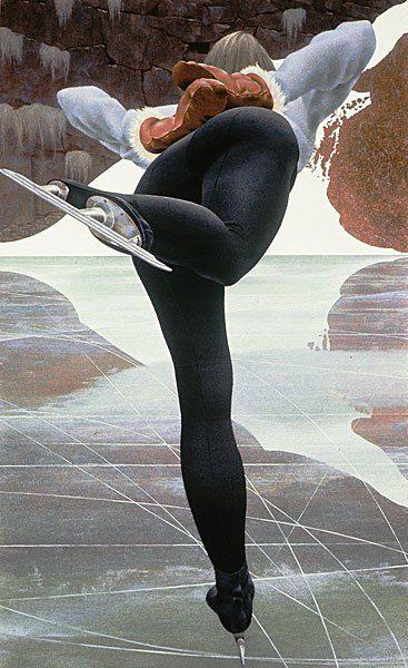 Skater (1964). Skater — painting by Alex Colville. Skater 1964. Acrylic polymer emulsion on hardboard 113 x 69.8 cm.
