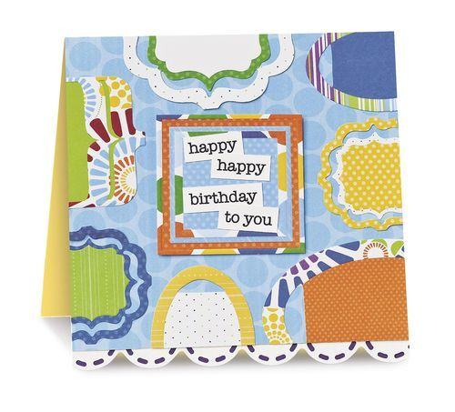 Cheerful Scrapbooking Birthday Card Idea Cards Pinterest Card
