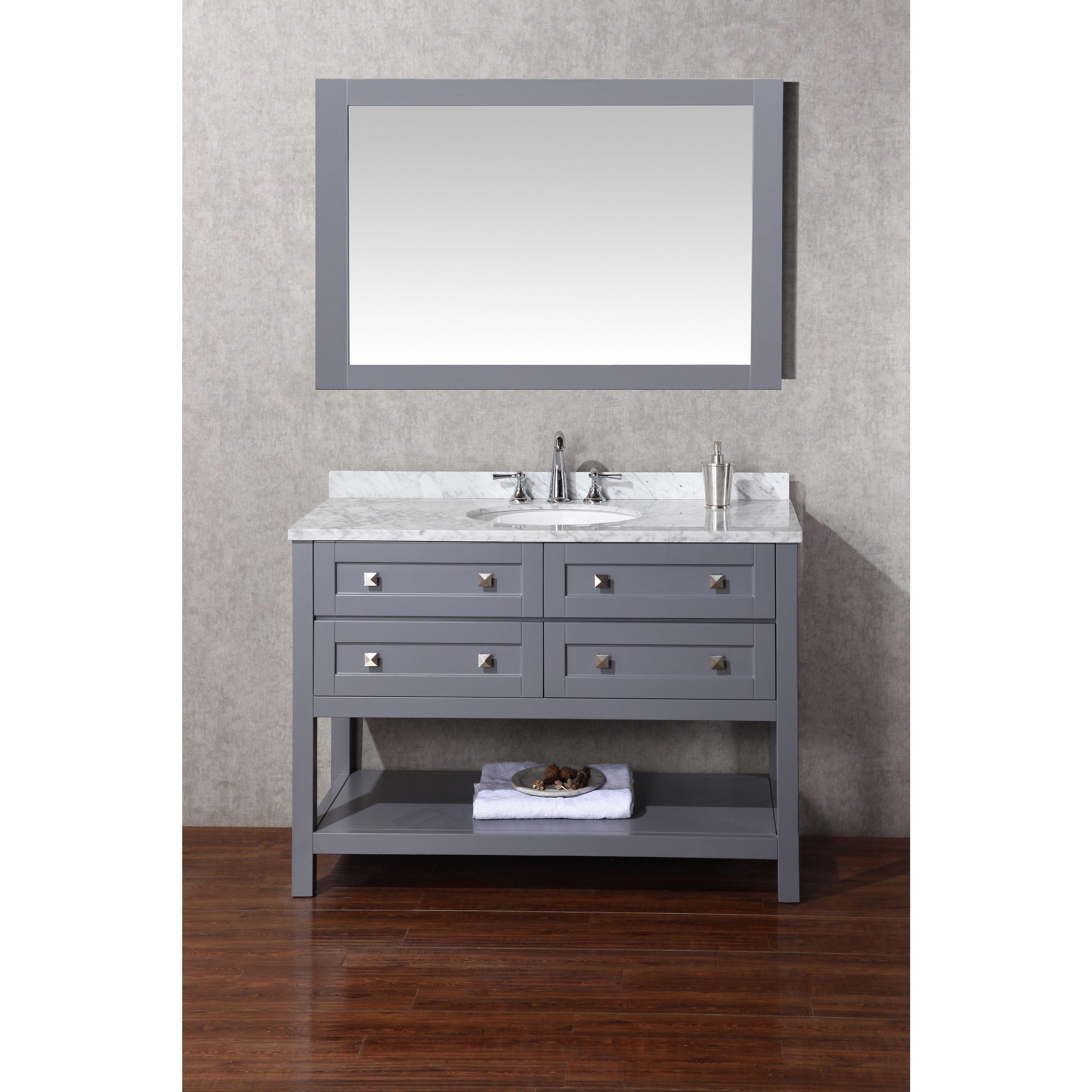Stufurhome Marla 48 inch Single Sink Bathroom Vanity with Mirror ...
